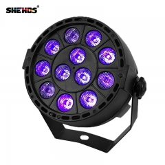 LED Flat Par 12x3W Ultraviolet Color Lighting LED Stage Light Par Con DMX512 para disco DJ projecto Decoración de fiesta