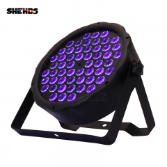 LED plano Par 54x3W color violeta DMX512 Efecto de escenario para DJ Disco Fiesta Decoración de la boda Dance Floor Nightclub y Bar