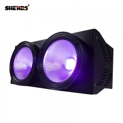 Envío gratis 2eyes 200W LED COB Blinder Violet Lighting DMX512 Etapa Efecto de iluminación Audiencia Iluminación DJ Equipment Disco
