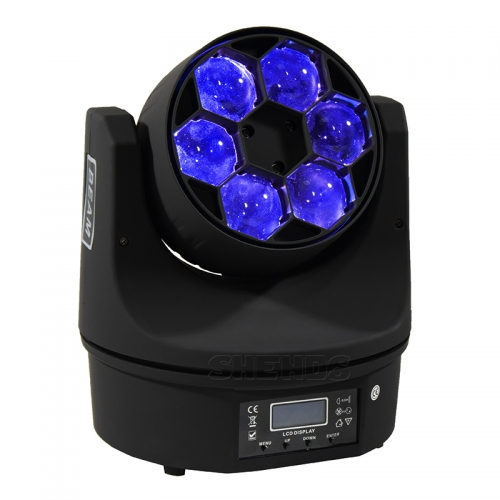 LED Beam + Wash 6x15W RGBW 4IN1 Bees Eyes Luz LED de cabeza móvil con excelentes programas 11/14 canales