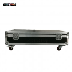 FlightCase con 4pcs LED 8x12W Bar Beam Luz principal móvil RGBW Perfecto para móvil DJ Party Nightclub Dance Floor Disco