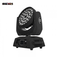 Buena calidad 36x18W RGBWA UV 6in1 Interior LED Par Zoom Luz Colorida Lavar luces