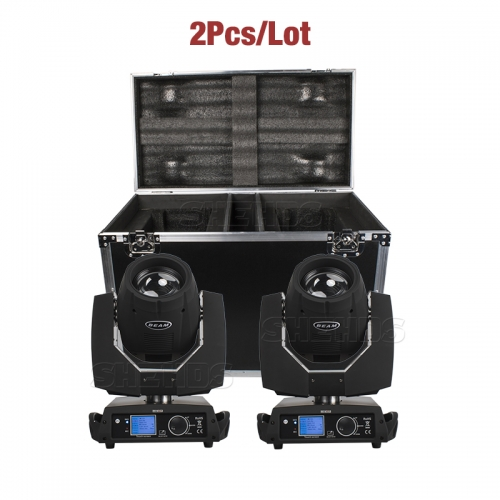 FlightCase con 2PCS Beam 230W 7R DMX512 Iluminación de efecto de escenario Bueno para DJ Disco Party Wedding Bar