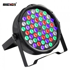 Envío rápido LED 54x3W RGBW LED Par plano RGBW Mezcla de color DJ Wash Light Uplighting de escenario KTV Disco DJ DMX512