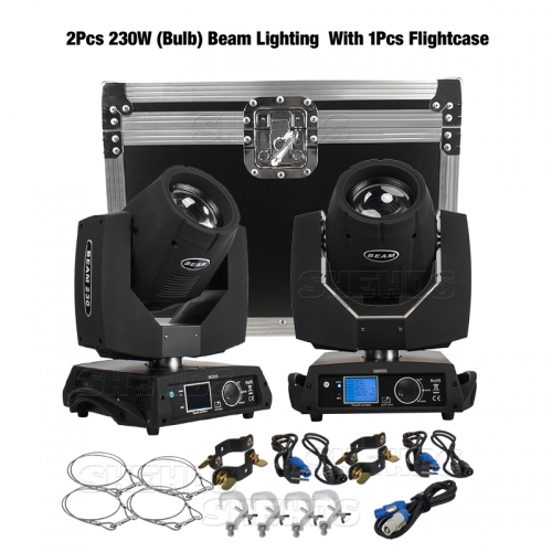 Flight Case puede poner 2pcs Beam 230W 7R Moving Head Lighting (el precio es solo Flight Case, sin luces de 230W)