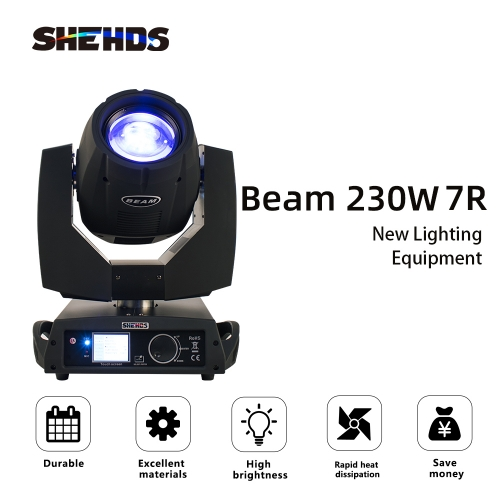 Beam 230W 7R Beam Moving Head Lighting DMX512 para pantalla táctil profesional Nightclub Touch Stage