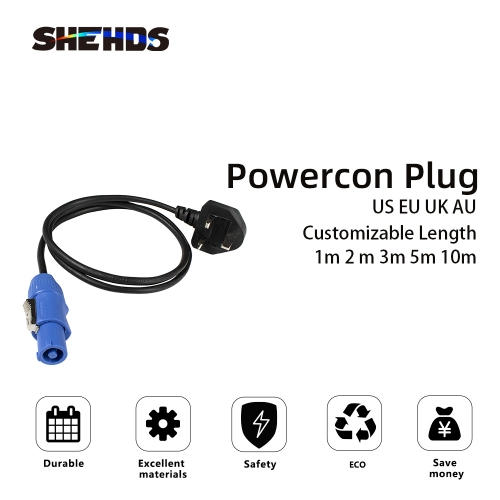 PowerCon Cable Power Connector De la mano para DMX Stage Lighting DJ Equipment